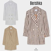 Bershka Stripes Casual Style Plain Medium Jackets