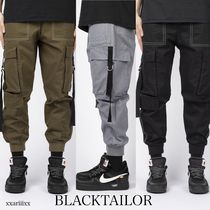 Street Style Plain Cotton Cargo Pants