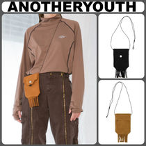 ANOTHERYOUTH Casual Style Unisex Plain Fringes Shoulder Bags