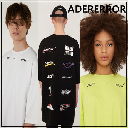 ADERERROR More T-Shirts Unisex Street Style Cotton Oversized T-Shirts