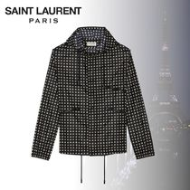 Saint Laurent Star Casual Style Medium Outerwear