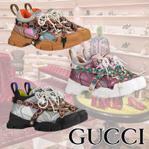 b010056b284 GUCCI Plain Toe Rubber Sole Casual Style Street Style Plain