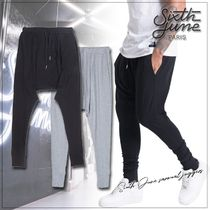 Sixth June Street Style Plain Cotton Sarouel Pants