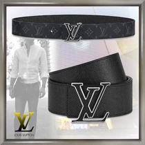 Louis Vuitton TAIGA Monogram Blended Fabrics Leather Belts