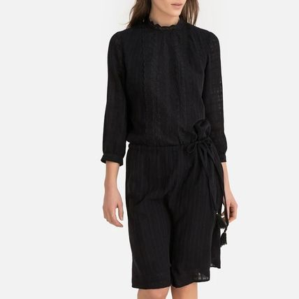 Other Check Patterns Cropped Medium High-Neck Dresses