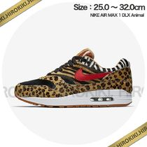 Nike AIR MAX 1 Leopard Patterns Street Style Sneakers