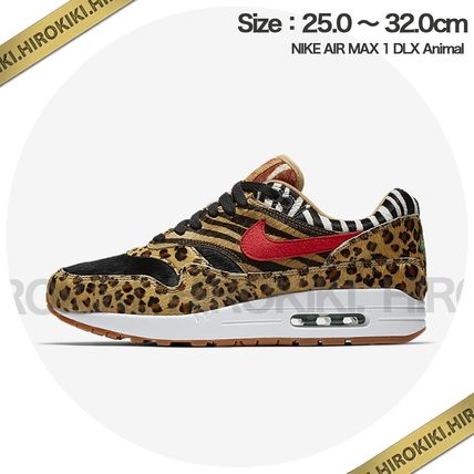 Nike AIR MAX 1 2018 SS Leopard Patterns Street Style Sneakers