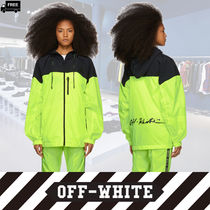 Off-White Casual Style Plain Medium Handmade Jackets