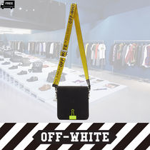 Off-White Casual Style 2WAY Plain Handmade Shoulder Bags