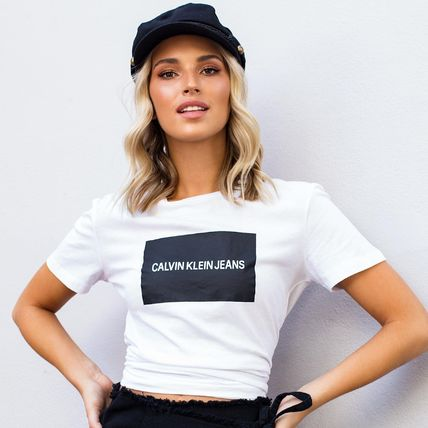 Crew Neck Short Cotton Short Sleeves Cropped