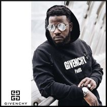 GIVENCHY Unisex Street Style Long Sleeves Plain Cotton Hoodies