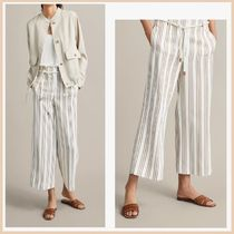 Massimo Dutti Stripes Casual Style Cropped & Capris Pants