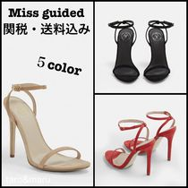 Missguided Open Toe Casual Style Plain Heeled Sandals