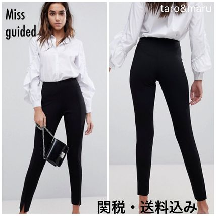Casual Style Plain Long Skinny Pants
