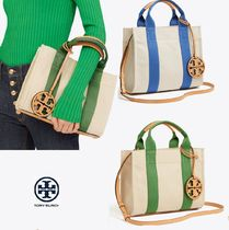 Tory Burch Canvas 2WAY Plain Totes