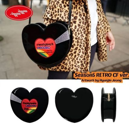 Heart Casual Style Unisex Street Style Bi-color