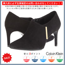 Calvin Klein Casual Style Plain Pin Heels Ankle & Booties Boots
