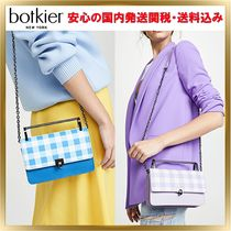 Botkier Gingham 2WAY Chain Leather Elegant Style Shoulder Bags