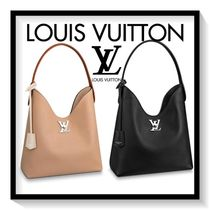 Louis Vuitton Casual Style Blended Fabrics 2WAY Plain Leather Totes