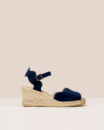 Open Toe Casual Style Suede Platform & Wedge Sandals