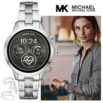 Michael Kors Casual Style Unisex Round Stainless Digital Watches