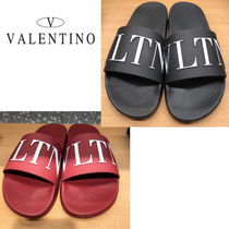 VALENTINO VLTN Plain Shower Shoes Shower Sandals