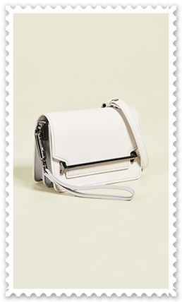 Plain Leather Elegant Style Crossbody Shoulder Bags