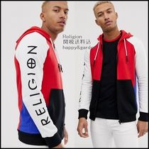 Religion Street Style Long Sleeves Plain Cotton Logos on the Sleeves