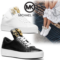 Michael Kors Star Rubber Sole Lace-up Casual Style Plain Leather