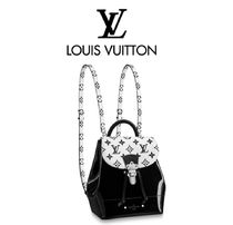 Louis Vuitton 2WAY Leather Elegant Style Backpacks