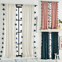 Anthropologie Tassel Plain Curtains
