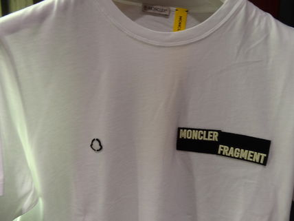 MONCLER More T-Shirts Street Style Collaboration Plain Cotton Short Sleeves 2