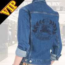 Burberry Casual Style Unisex Denim Street Style Other Animal Patterns
