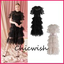 Chicwish Flared Medium Short Sleeves Party Style Dresses