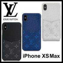 Louis Vuitton TAIGA Monogram Unisex Blended Fabrics Leather Smart Phone Cases