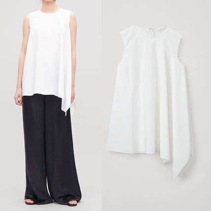 Sleeveless Plain Cotton Long Tanks & Camisoles