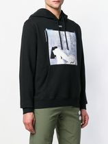 Off-White Long Sleeves Plain Cotton Sweatshirts