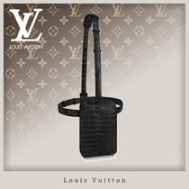 Louis Vuitton Unisex Crocodile Street Style 2WAY Bags