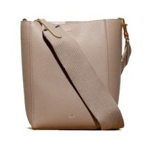 CELINE Sangle Calfskin Plain Elegant Style Crossbody Logo Totes