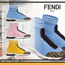 FENDI Rubber Sole Casual Style Blended Fabrics Bi-color