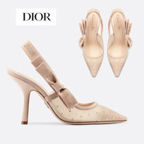 Christian Dior JADIOR Dots Blended Fabrics Studded Pin Heels With Jewels