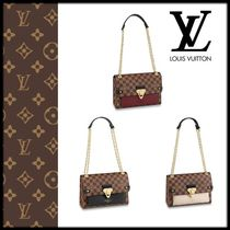 Louis Vuitton DAMIER Monogram Canvas Elegant Style Shoulder Bags