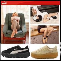 PUMA SUEDE Unisex Street Style Leather Low-Top Sneakers
