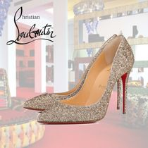 Christian Louboutin Pigalle Follies Leather Pin Heels Elegant Style Pointed Toe Pumps & Mules