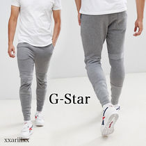G-Star Tapered Pants Blended Fabrics Street Style Plain Cotton