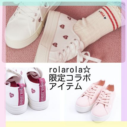 Heart Casual Style Low-Top Sneakers