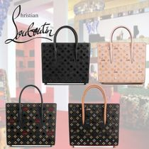 Christian Louboutin Paloma Calfskin Studded 2WAY With Jewels Elegant Style Handbags
