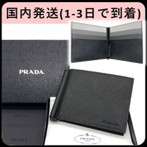 PRADA SAFFIANO LUX Saffiano Bi-color Folding Wallets