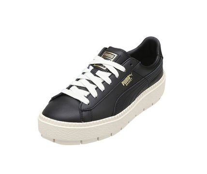 PUMA BASKET HEART 2018 SS Street Style Leather Low Top Sneakers (36726001)