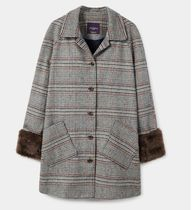 MANGO Other Check Patterns Wool Chester Coats